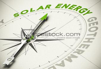 Green Energies Choice - Solar Energy Concept