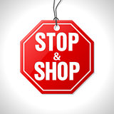 Stop and shop merchandise label