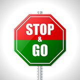 Stop and go sign for racers