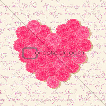 Greeting Cards with Pink Flowers