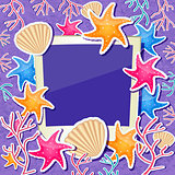 Photo Frame with Shell, Star Fish and Coral Ornament Decoration