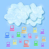 Cloud Computing Mobile Concept Background