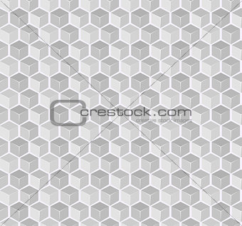 Abstract Gray Cube Seamless Pattern
