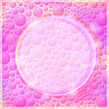 Pink Background Design of Round Form and Bright Colors