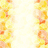 Yellow Light Fruit Invitation Card with Orange