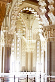 Praying hall of the Mosque of Hassan II