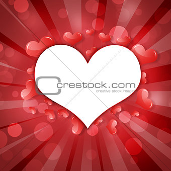 Abstract frame of hearts