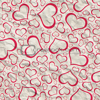 Abstract background of hearts