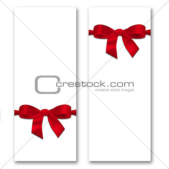 Card with ribbon and bow