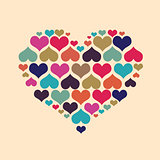 Big heart made up of little hearts