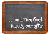 fairytale happy end phrase