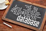 database word cloud on blackboard