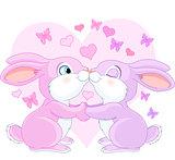 Valentine rabbits