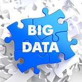 Big Data on Blue Puzzle.
