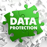 Data Protection on Green Puzzle.