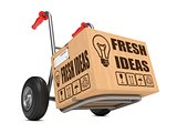 Fresh Ideas - Cardboard Box on Hand Truck.