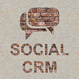Social CRM Concept on the Wall.