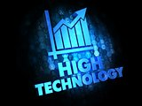 High Technology on Dark Digital Background.