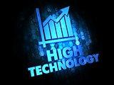 High Technology on Dark Digital Background.