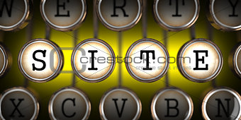 Site on Old Typewriter's Keys.