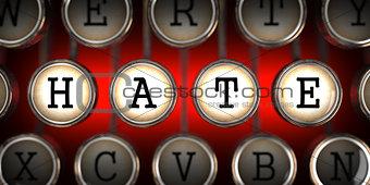 Hate on Old Typewriter's Keys.