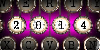 Old Typewriter's Keys with 2014 Year Slogan.
