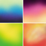 Abstract colorful blurred vector backgrounds set 10