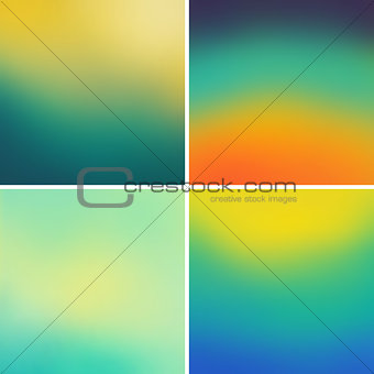 Abstract colorful blurred vector backgrounds set 11