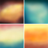 Abstract colorful blurred vector backgrounds set 8