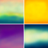 Abstract colorful blurred vector backgrounds set 5