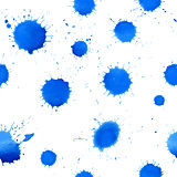 Watercolor Abstract background. Seamless pattern with blue blots