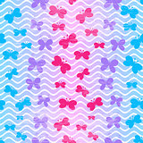 Colorful striped wave seamless pattern