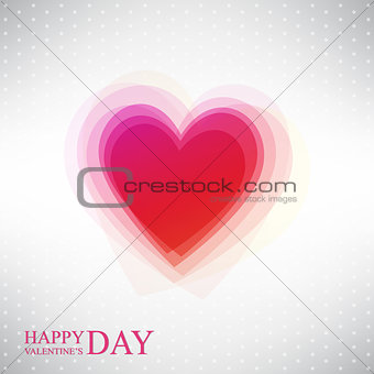 Abstract heart by Valentine's Day