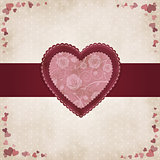 Vintage heart by Valentines Day