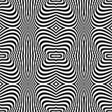 Seamless op art texture. Zebra pattern design.