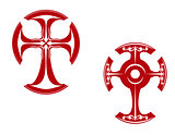 Two stylized crosses