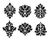 Collection of six different arabesque designs