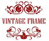 Pretty floral Vintage Frame