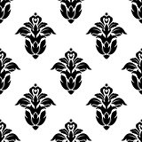 Seamless pattern of floral motifs