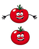Two happy tomatoes illustration