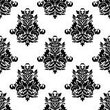 Foliate arabesque motif seamless pattern
