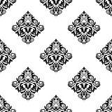 Damask-style arabesque seamless pattern