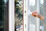 hand open plastic pvc window