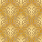 seamless gold silk floral abstract wallpaper pattern background