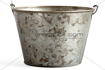 tin pail with clipping path