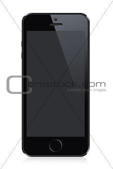 Black modern smart phone