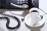 have a break in office coffe on desk business lifestyle