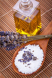 lavender massage oil and bath salt aroma therapy wellness