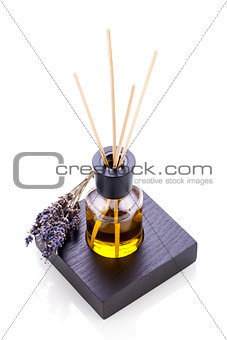 aromatic lavender oil fragrant object isolated