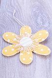 Pretty pastel polka dot flower gift tag